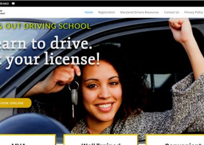 In and Out Driving School Website VBS build