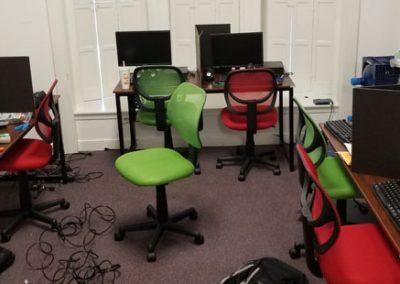 VBS business tech computer room setup